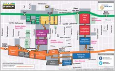 Montreal's New Underground Map. Finally Easier To Navigate