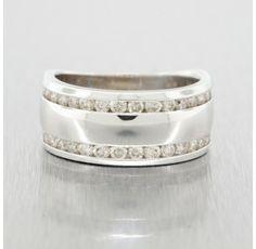 14kt. White Gold 3/4 Ct. Diamond Double Row Ring