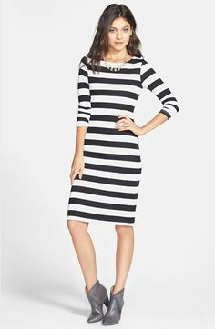 Minty Stripe Midi Dress (Juniors) available at #Nordstrom