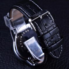 Jaragar Sport Racing Design Genuine Leather Strap Mens Watches Automat – hue and shades Watches For Men Unique, Luxury Watches For Men, Cool Watches, Leather Wristbands, Sport Watches, Ladies Watches, Wrist Watches, Men's Watches, Fashion Watches