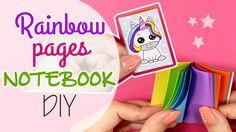 DIY Rainbow pages Notebook - Mini libro con pagine Arcobaleno