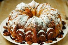Cranberry-Apple Vanilla Buttermilk Cake with Pecans