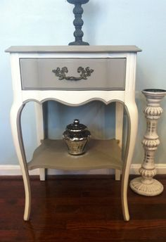 SOLD/French Provincial End/Night Stand by SaundersDesign on Etsy,