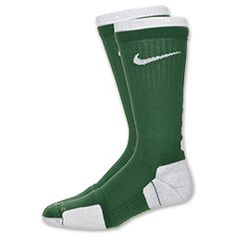 The Nike Elite 2 Layer Basketball Crew Socks help keep your feet moving without distraction. The unique two layers of cushioning absorb the impact of the game, letting you focus on the scoreboard. Rib cuffs and compression fit give the Elite socks a snug fit and greater arch support. Dri-FIT fabric wicks sweat away to keep you cool and dry. Left/right-specific fit. 1 Pair. 100% nylon.