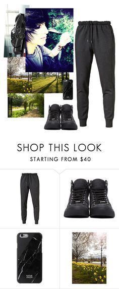 """Oorn//searching for Tiger//late -Crim"" by nefelibata-anons ❤ liked on Polyvore featuring Puma, Jimmy Choo, Native Union, men's fashion and menswear"