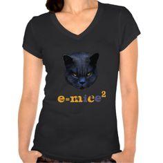 Cross Cat vs Einstein! T Shirts   #CrossCat #cats #funny #einstein #wordplay #fashion #womensfashion