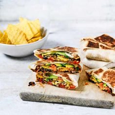 Black bean crunch wraps