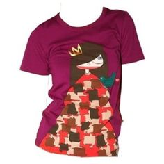 Marc Jacobs Ready to Wear T-Shirt Crew neckline. Banded cuffs and hem. Miss Marc Jacobs print on front wearing crown and houndstooth pattern dress. It says it's a medium but it fits more like a small. It's very soft  Marc Jacobs Tops Tees - Short Sleeve