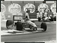 NELSON PIQUET BENETTON FORD B191 1991 ITALIAN F1 GP ORIGINAL PERIOD PHOTOGRAPH