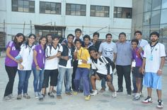 Sports student representatives at Annual Sports day - Narsee Monjee College of Commerce and Economics.
