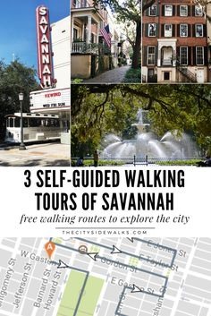 3 self-guided walking tours of Savannah – The City Sidewalks – Wanderlust Downtown Savannah, Visit Savannah, Savannah Georgia, Savannah Chat, Savannah Tours, Savannah Smiles, Savannah Historic District, Tybee Island Georgia, Oh The Places You'll Go