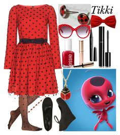 """Tikki: Miraculous Ladybug"" by ender-chic52 ❤ liked on Polyvore featuring Effie's Heart, Yves Saint Laurent, Wet Seal, Dolce&Gabbana, Essie, By Terry, Marc Jacobs, Chanel and BillyTheTree"