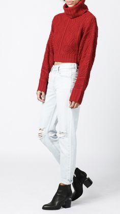Azalea - Turtleneck Crop Sweater