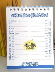 Calendario da taovolo, perfetto da tenere sopra la scrivania, a casa o al lavoro.