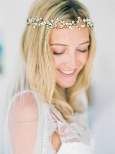 Pretty headband: http://www.stylemepretty.com/destination-weddings/2015/09/11/romantic-bohemian-chic-wedding-in-portugal/ | Photography: Love Is My Favorite Color - http://www.loveismyfavoritecolor.com/
