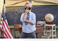 Back to School Photography Ideas via iHeartFaces.com - Portrait Photography by Candace Rock Photography