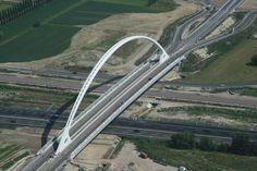 Reggio Emilia Bridge. Italy. (Built by Architec Santiago Calatrava)
