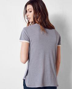 T-Shirt rayé Ink blue Croquet