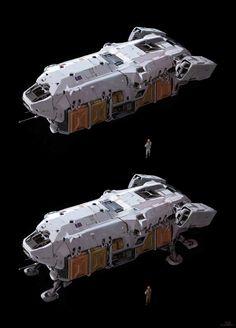 Halo 5 - transport ship, sparth . on ArtStation at https://www.artstation.com/artwork/0E4eG