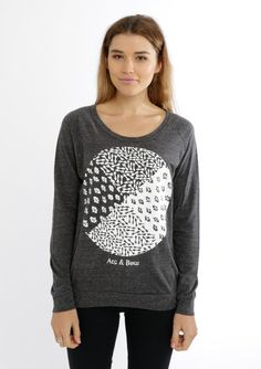 Slouch Jersey - Paisley Print