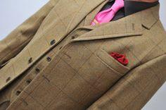 Bespoke made to measure tweed jacket and waistcoat