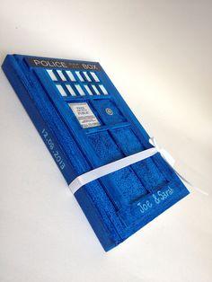 Customized TARDIS Wedding Guest Book, Doctor Who Wedding Guest Book, Police Phone Box Wedding Guest Book 5X8