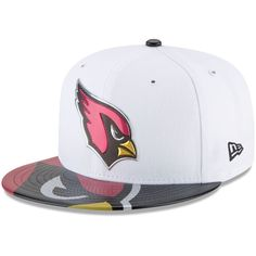 Arizona Cardinals New Era 2017 NFL Draft Official On Stage 59FIFTY Fitted  Hat - White. Black SilverStageTeam LogoMens ... 31688cb33