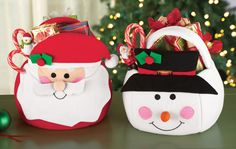 Christmas Holiday Treat Gift Baskets with Handle
