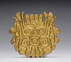 Plaque, c. 500-200 BC Peru, North Coast, Chongoyape(?), Chavín style (1000-200 BC) hammered and cut gold Cleveland Museum of Art