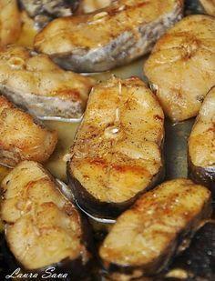 Peste la cuptor, cu vin alb - Retete culinare cu Laura Sava | Retete culinare cu Laura Sava