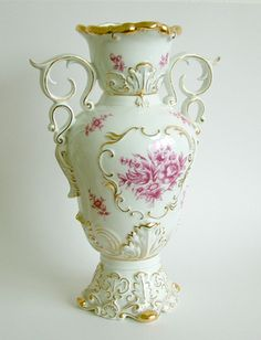 Hollóházi porcelán váza Vintage China, Pottery, Ceramics, Chocolate, Budapest, Vases, Interiors, Beautiful, Lady