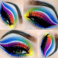 In honor of pride (and I take pride in being Pansexual) I wanted to do a rainbow look
