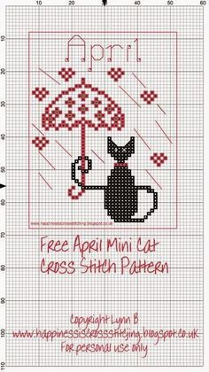 Happiness is Cross Stitching : Mini Cat Cross Stitch Freebies: