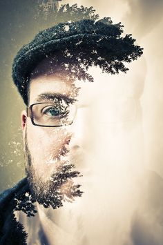 Double Exposure Portrait by Jay Mcintyre of Ontario, Canada