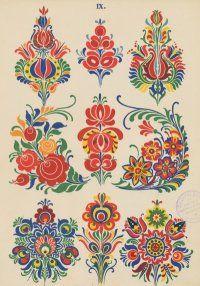 """Scandinavian"" (actually Slowakian) floral prints."