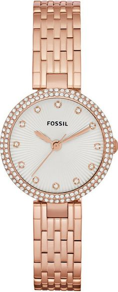 Fossil Watches, Women's Olive Three Hand Stainless Steel Watch - Rose #ES3347