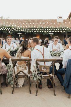 Braut und Bräutigam Hochzeitsempfang Stuhl Swag