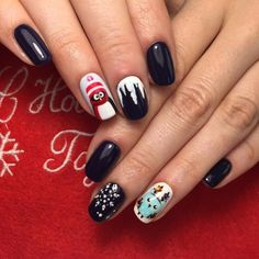 61 Best Winter Nails 2018 Images On Pinterest Christmas Manicure