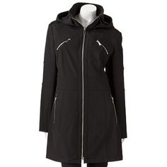 Apt. 9 Hooded Long Soft Shell Jacket, i like the pockets