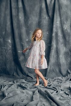 Nellystella Love Alice Dress in Winter Melody (Embroidery) - Preorder Little Girl Fashion, Little Girl Dresses, Toddler Fashion, Kids Fashion, Girls Dresses, Flower Girl Dresses, Latest Fashion, Fashion Trends, Outfits Teenager Mädchen