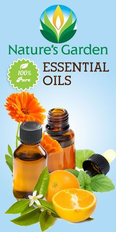 Essential Oils- 100% Pure and Natural from Natures Garden.  #essentialoil