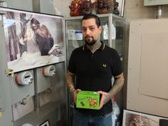 Bill Blood - picking up some of Mithra's rubber touch disposable tubes - at the Mithra NY showroom.