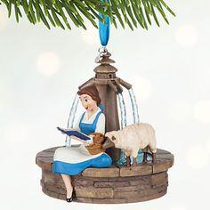 Belle Singing Sketchbook Ornament - Personalizable | Disney Store