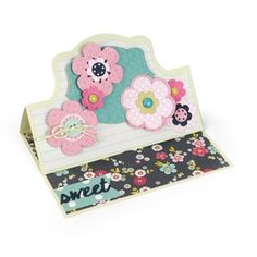 Sweet Flowers Card #2 Take flower power to a whole new level of creativity. Sizzix dies designed by Stephanie Barnard help deliver a sentimental greeting card to your favorite sweetheart.