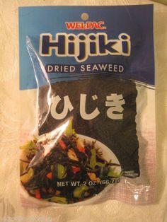 Hijiki Dried SEAWEED  2OZ package * Healthy *  Good through JAN 05 2015