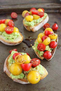 The Comfort of Cooking » Smashed Avocado and Tomato Bruschetta