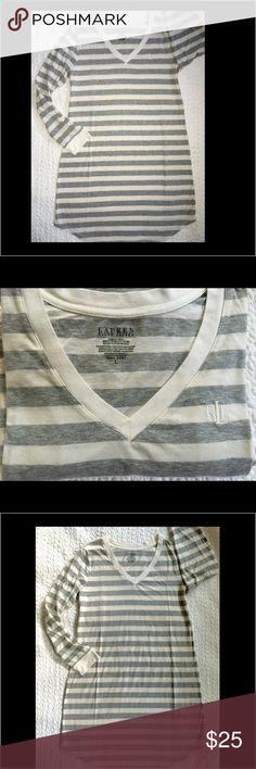 RL stripe sleep shirt Like new no flaws - comfy night gown sleep shirt Ralph Lauren Intimates & Sleepwear Pajamas