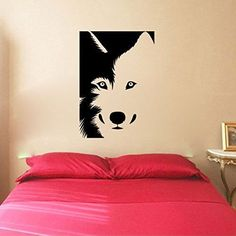 Wolf Silhouette Vinyl Wall Decal Sticker Graphic. Made from high quality adhesive vinyl that will last indefinitely indoors and has an outdoor rating of up to 10 years. Some decals may be in multiple
