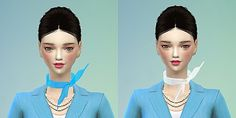 Korean stewardess scarf at Marigold via Sims 4 Updates