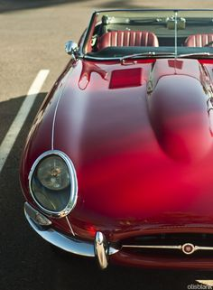 Jaguar E-type...talk about the perfect Route 66 road trip car.  ---> Attract your dreams FASTER, CLICK ON THE PICTURE